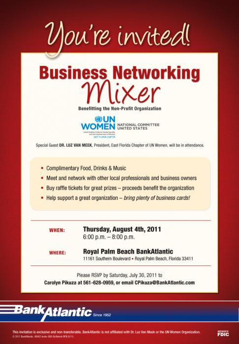 Image Gallery networking mixer invitations